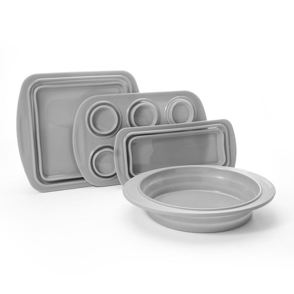 Cook's Companion® 4-Piece Collapsible Silicone Bakeware Set. Opens flyout.