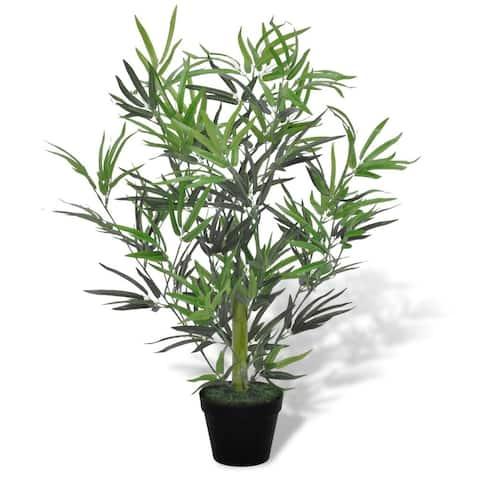 """vidaXL Artificial Bamboo Tree with Pot 31"""""""