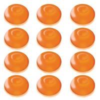 Club Pack of 12 Battery Operated LED Orange Waterproof Floating Blimp Lights