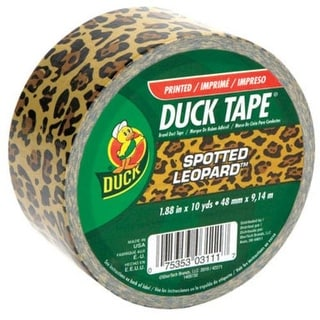 "Shurtech Brands 1407671 Leopard Color Duck Tape, 1.88"" x 10 Yards"