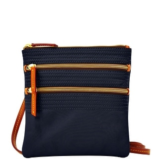 Dooney & Bourke Nylon Triple Zip (Introduced by Dooney & Bourke at $88 in Feb 2014) - Navy