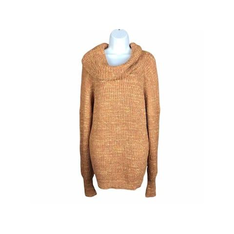 FREE PEOPLE Orange Long Sleeve Sweater S