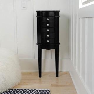 Hives & Honey Meg Black Standing Jewelry Armoire