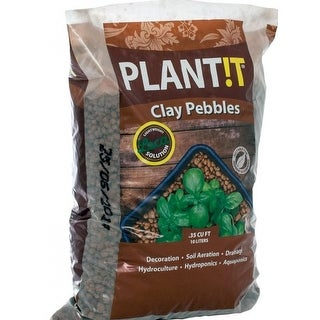 Plant!T GMC10L Horticultural Clay Pebbles, 10 Liter, 4mm - 16mm, Natural Clay