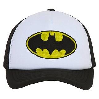 Batman Round Logo Black Trucker Mesh Snapback