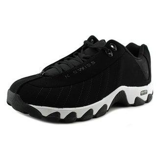 K-Swiss ST329 CMF Men  Round Toe Leather Black Sneakers