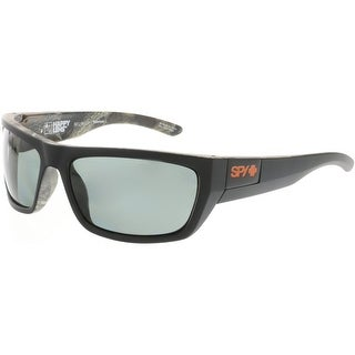 Spy Men's Polarized Dega 673368423864 Black Rectangle Sunglasses