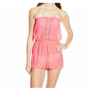 Laundry By Design NEW Pink Women's Size Medium M Cover-Up Romper Swimwear