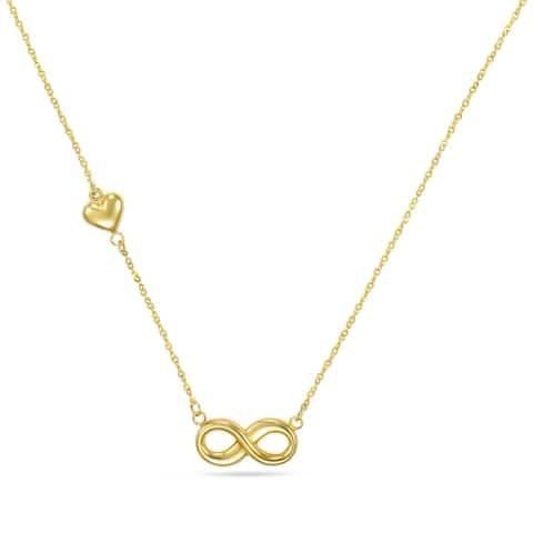 """Forever Last 10 K Gold Bonded over Silver 17"""" Evil Eye Necklace"""