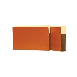 Star Products Heavy Duty Expanding File, Legal, 3-1/2 in Expansion, 5 Pockets, Redrope