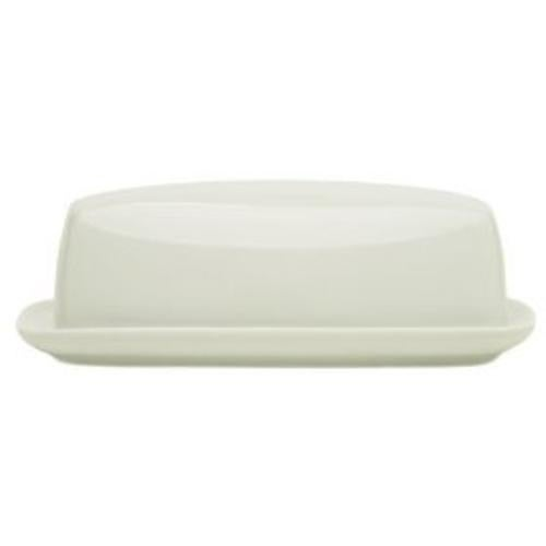 HIC 79404 Porcelain Butter Dish, Cafe White