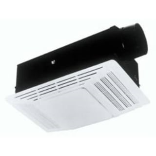 Broan 655 Bathroom Exhaust Fan with Heater - White