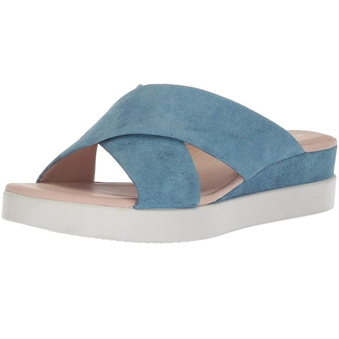 1ec3baa8b7bb ECCO Womens Touch Leather Open Toe Casual Slide Sandals