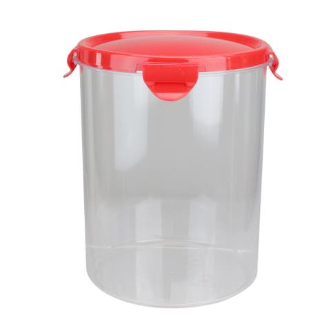 Plastic Flour Storage Container with Built-In Leveler - N/A