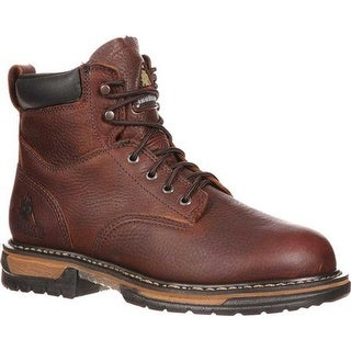 """Rocky Men's 6"""" IronClad 6696 Boot Bridle Brown Leather"""