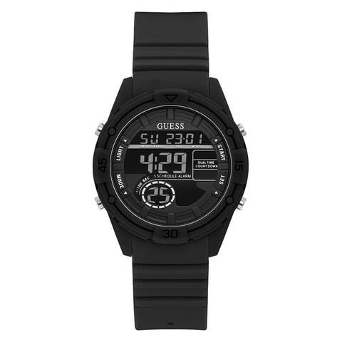 Guess Women's Bounce U1281L2 Black Silicone Quartz Fashion Watch - Multi