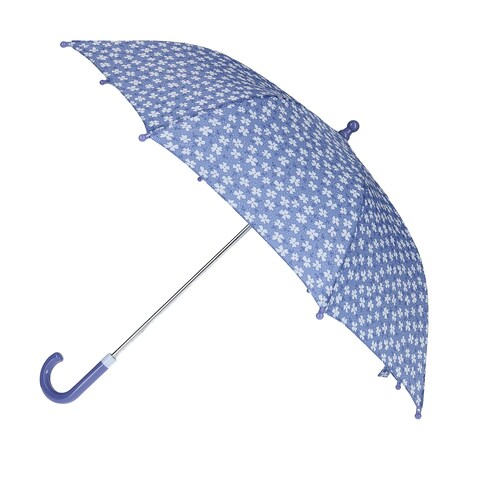 CTM® Kid's Flower Print Stick Umbrella - One size