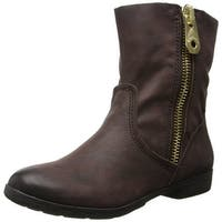 BCBG Generation Brown Women Shoes Size 6M Rossy Leather Boot