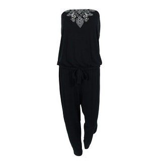 Lucky Brand Women's Embroidered Strapless Jumpsuit Cover-Up - M/L