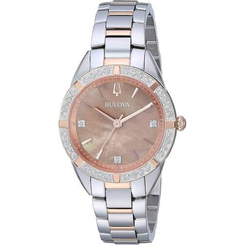 Bulova Women's 98R264 'Sutton' Two-Tone Stainless Steel Watch - Silver
