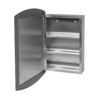 """24"""" Stainless Steel Medicine Cabinet Mirrored Wall Mount 