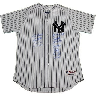 New York Yankees Dynasty 11 Signature Joe Torre  Authentic 6 Pinstripe Jersey  w All 4 96989900 Ins