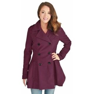 Urban Republic Juniors Double Breasted Long Wool Peacoat Coat Plus Size Avail
