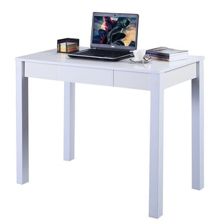 COSTWAY Study Desk Computer Table Drawer Modern Decor Furniture Home Office