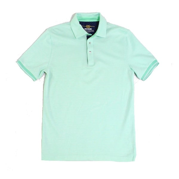 ac7122ed5 Shop Club Room NEW Mint Green Mens Size Small S Polo Contrast Trim Shirt -  Free Shipping On Orders Over $45 - Overstock - 19830726