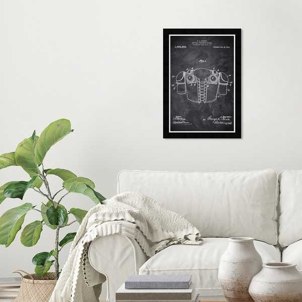 Wynwood Studio 'Football Protective Apparel' Sports and Teams Black Wall Art Framed Print. Opens flyout.