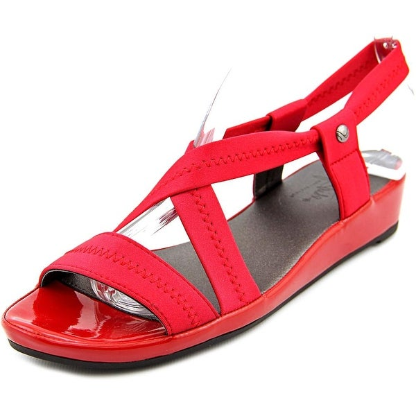 Life Stride Debutante Women W Open Toe Canvas Wedge Sandal