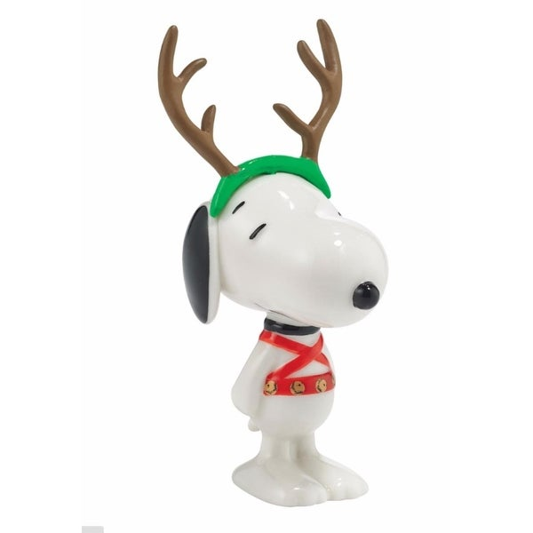 "Department 56 Peanuts Snoopy By Design ""Sled Dog"" Christmas Figurine #4044965 - RED"