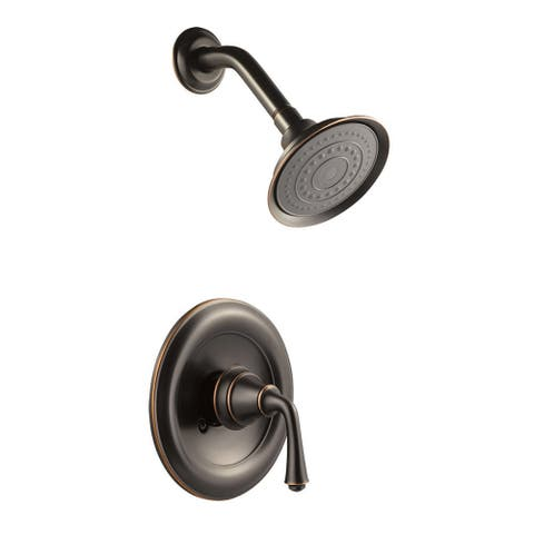 Design House 524694 Single Handle Pressure Balanced Shower Only Valve - Oil Rubbed Bronze