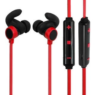 bluetooth 4.1 Wireless Headphone In-ear Earbuds Headset Red for Running Exercise