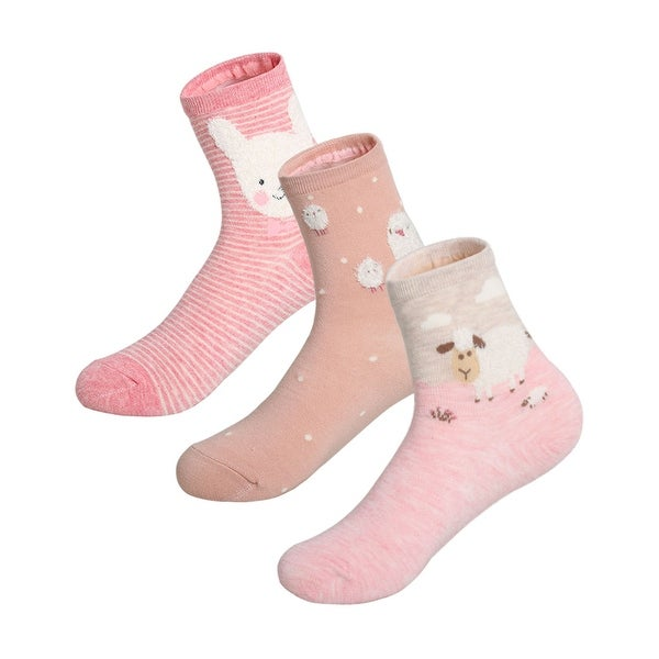Ladies Non Skid Slipper Socks Size 9-11 Color Pink-6 Pack
