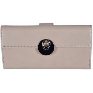 "Gucci Women's 231835 LIght Beige Washed Leather Continental W/Coin Wallet - 7.5"" x 4"""
