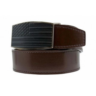 Nexbelt USA Antique Brown Smooth Leather with Antique Aston Buckle Belt