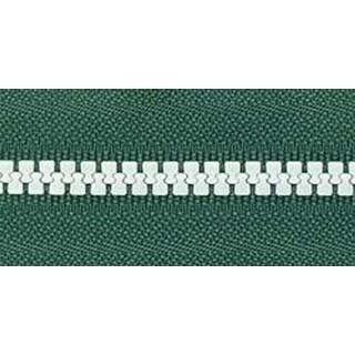 """Green & White - Team Spirit Separating Zipper 26"""""""