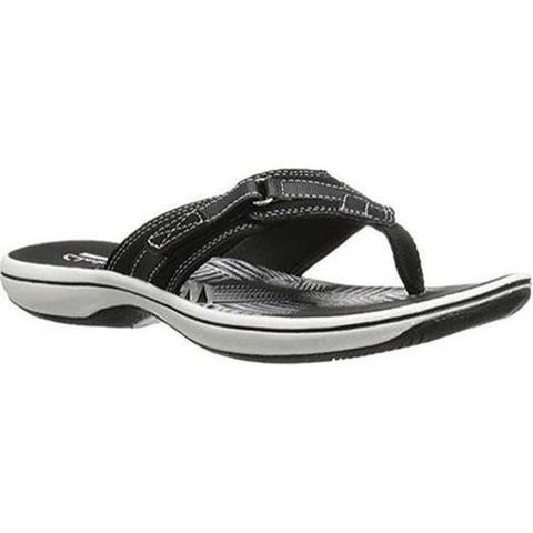 157986d8f Clarks Women s Breeze Sea Flip Flop Black Synthetic