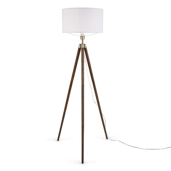BEAUTIFUL TRIPOD FLOOR LAMP NAUTICAL ADJUSTABLE TRIPOD WOODEN STAND