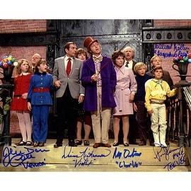 Willy Wonka Kids Signed 8x10 Photo ()