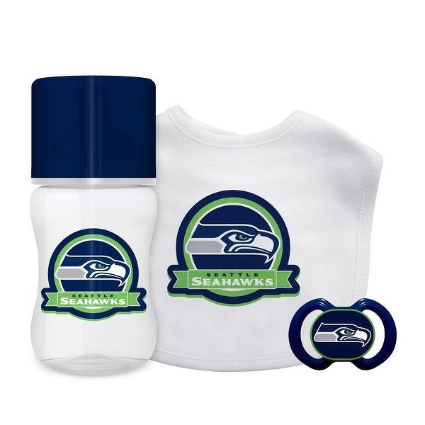 sale retailer c4761 52bf6 Seattle Seahawks Baby Gift Set 3 Piece