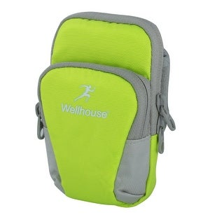 Wellhouse Authorized Sports Running Nylon Arm Bag Phone Pack Holder Green M