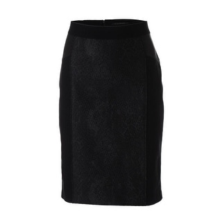 Elie Tahari Womens Valeria Panel Faux Pencil Skirt - 0