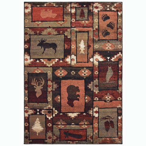 Westley Nature's Silhouettes Rustic Area Rug