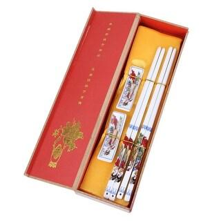 Unique Bargains Casa-J Chinese Kitchen Tableware Porcelain Chopsticks Set