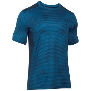 Under Armour NEW Blue Mens Size 2XL Fitted Shirt Athletic Apparel