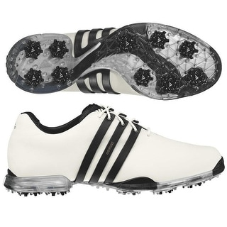 Adidas Men's Adipure White/Black Golf Shoes 816220/816373