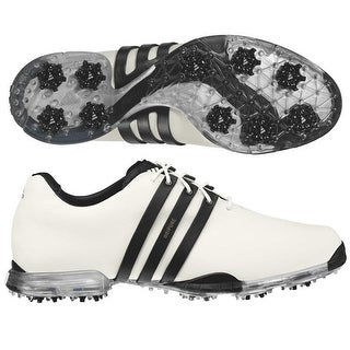 Adidas Men's Adipure White/Black Golf Shoes 816220/816373