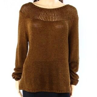 Lauren Ralph Lauren NEW Spice Brown Womens Size XL Boat Neck Sweater